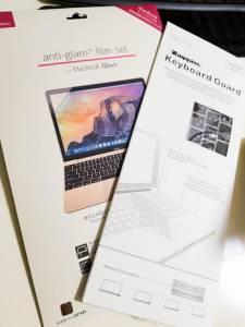 MacBook12インチ用アンチグレアフィルム、キーボードカバー