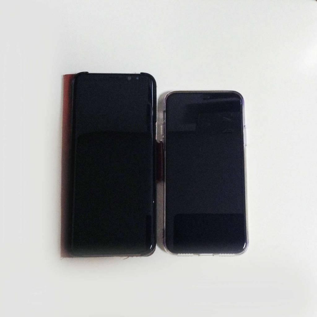 iPhone X をGalaxyS8+と比較してレビュー。