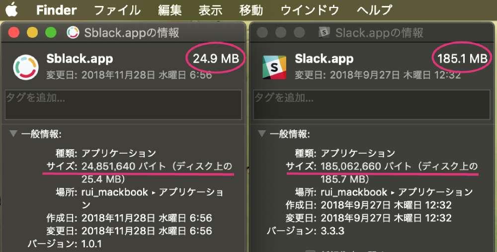 macOS用slackのサードパーティ製クライアントSblack