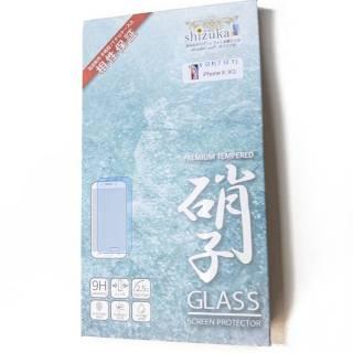 iPhoneX防指紋加工ガラスフィルムshizuka