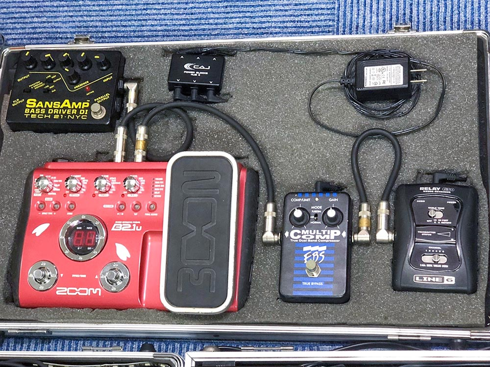 R.U.Iのエフェクターボード