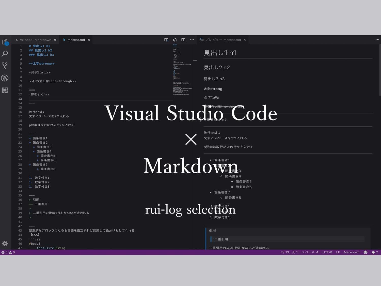 VisualStudioCodeでMarkdownを利用する
