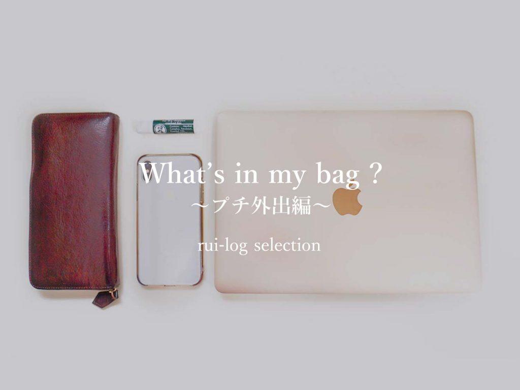 ルイログ的バッグの中身:ちょっとそこまで編