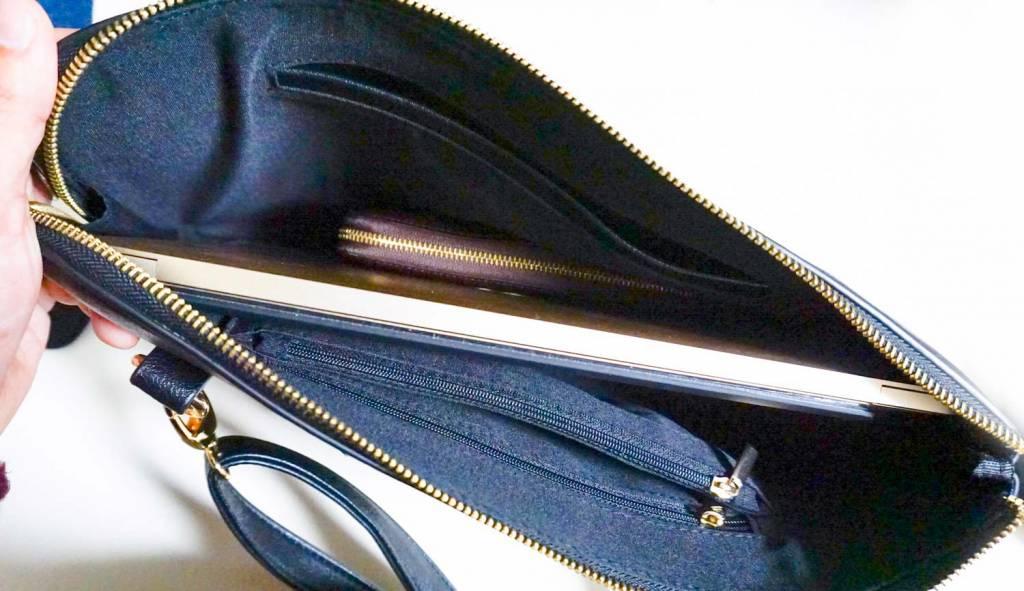 MacBookもすっぽり入るショルダークラッチバッグ