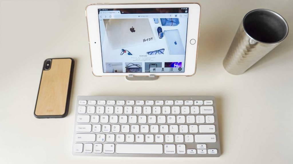 iPad mini 5とBluetoothキーボードとiPhoneX