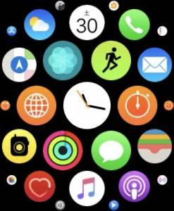 Apple Watchのアプリ一覧「グリッド表示」