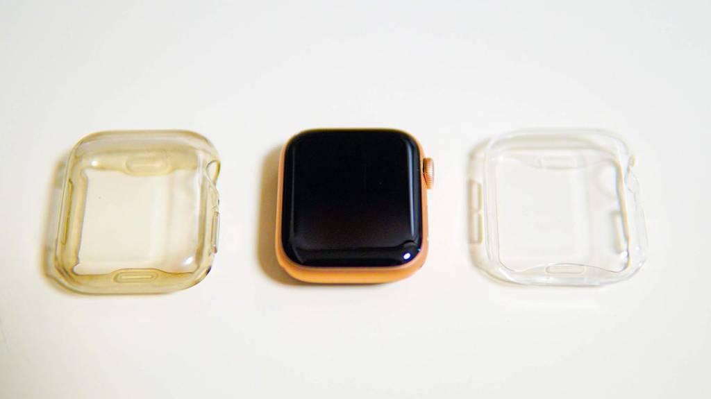 AppleWatch4と全面保護クリアケース
