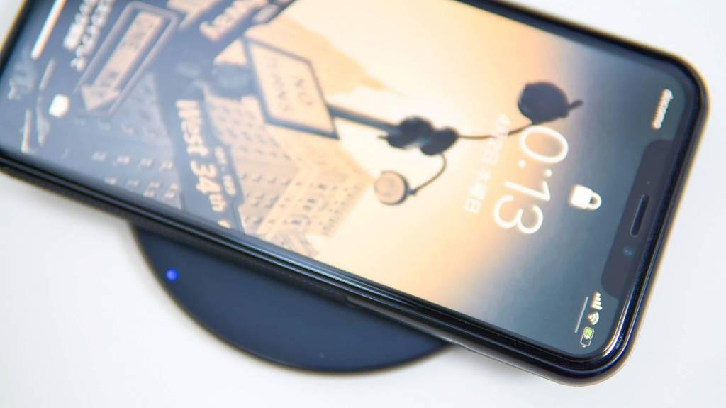 AnkerのQi充電器PowerWave10Pad(改善版)でiPhoneXを充電