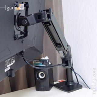 Amazonベーシックのシングルモニターアームをルイログがレビュー