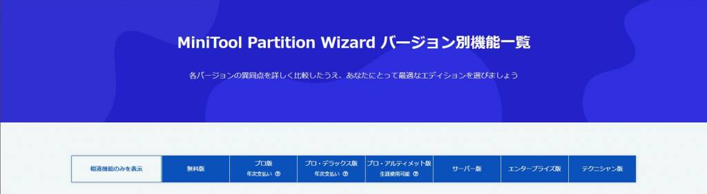 MiniTool Partition Wizard 公式ページ