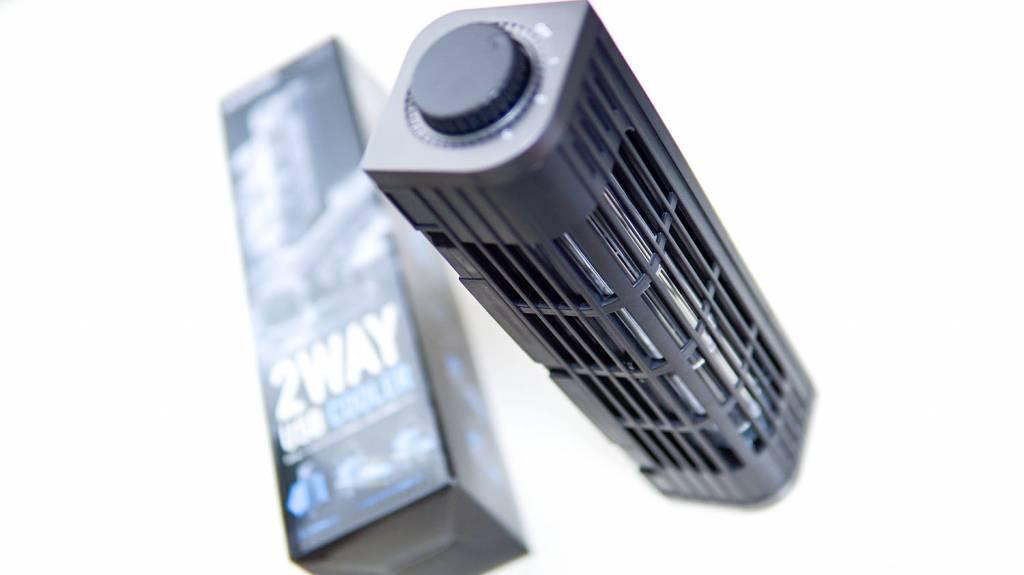 ELECOM(エレコム)USB扇風機「FAN-U177BK」を縦置き