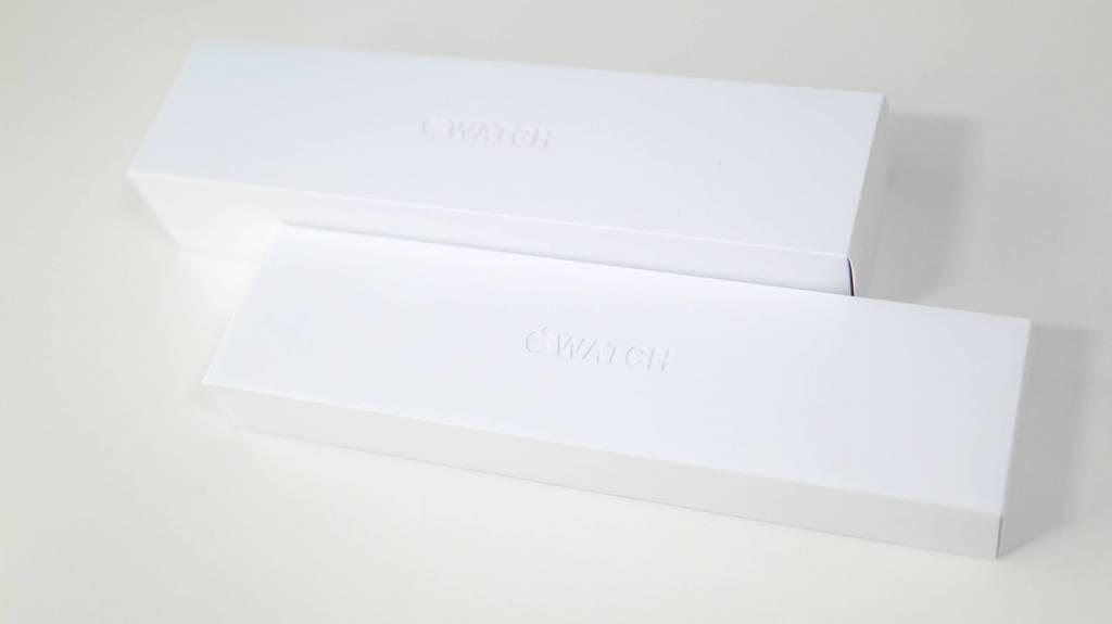 Apple Watch 6 とApple Watch 4の外箱比較