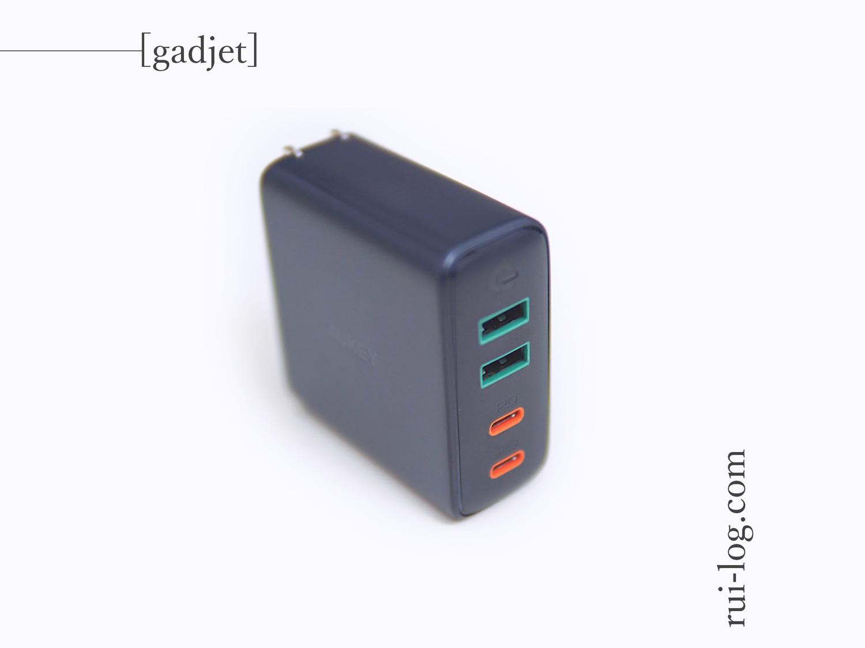 AUKEYの4ポートPD充電器PA-D52をルイログがレビュー