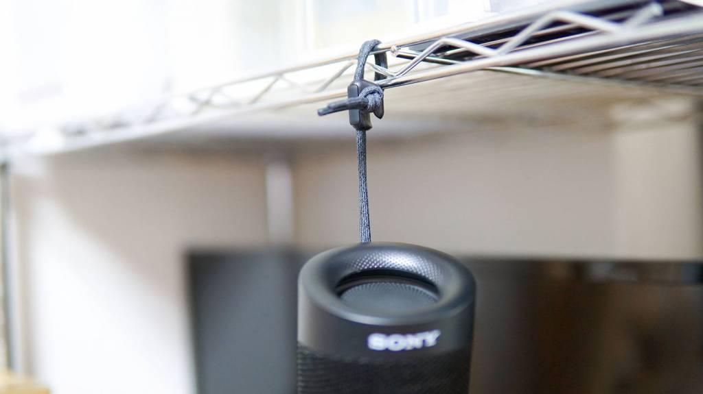 SONYのBluetoothスピーカー「SRS-XB23」をぶら下げる