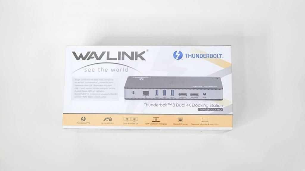 WAVLINKのThunderbolt3ドッキングステーションのパッケージ