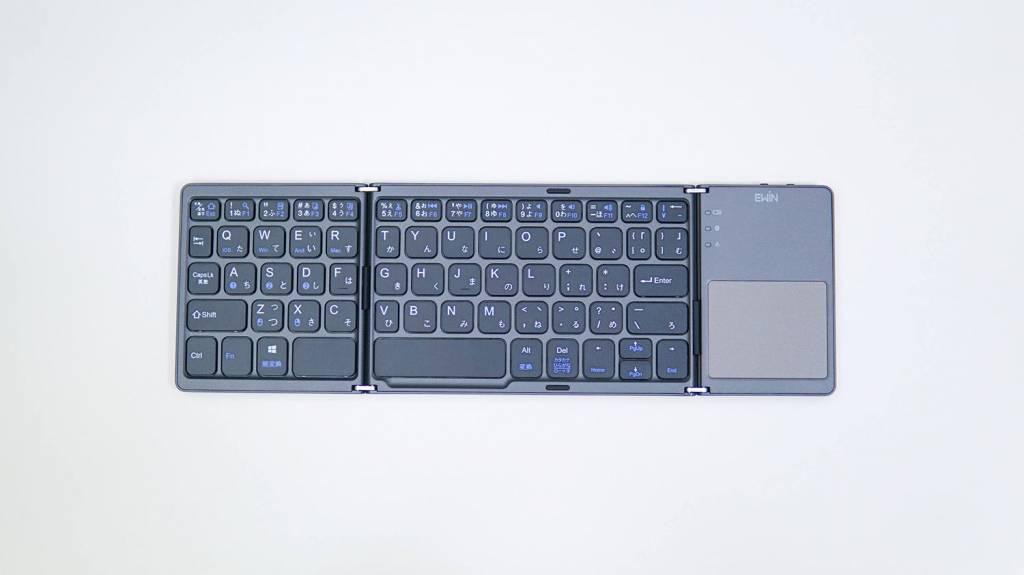 Ewinトラックパッド付き折り畳み式Bluetoothキーボード本体