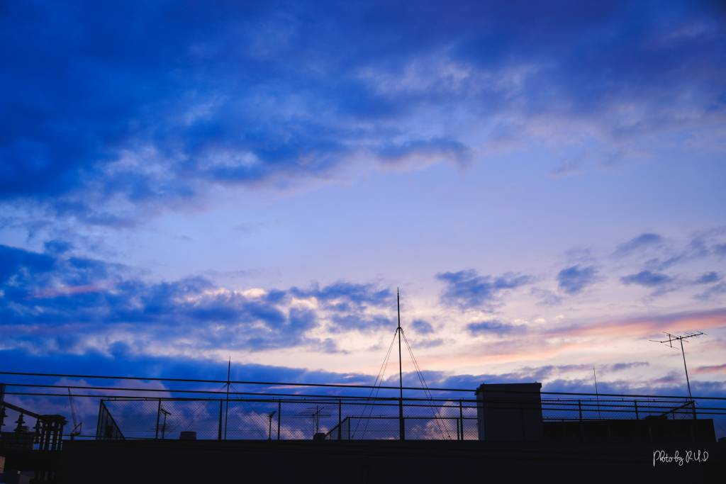 ルイログの撮影した夕焼け空