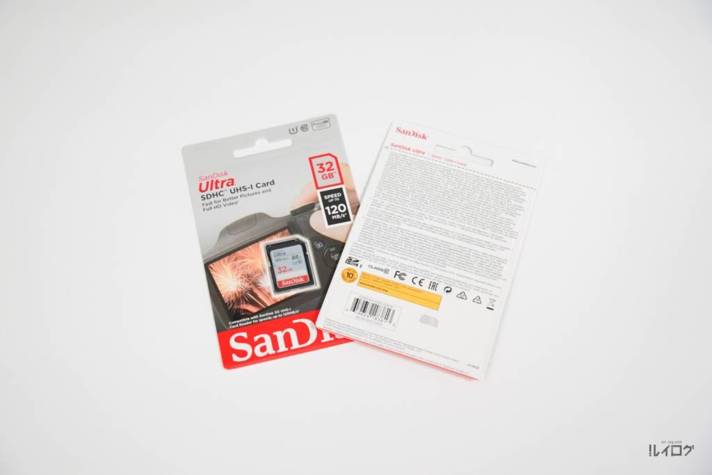 SANDISKのSDカード32GB