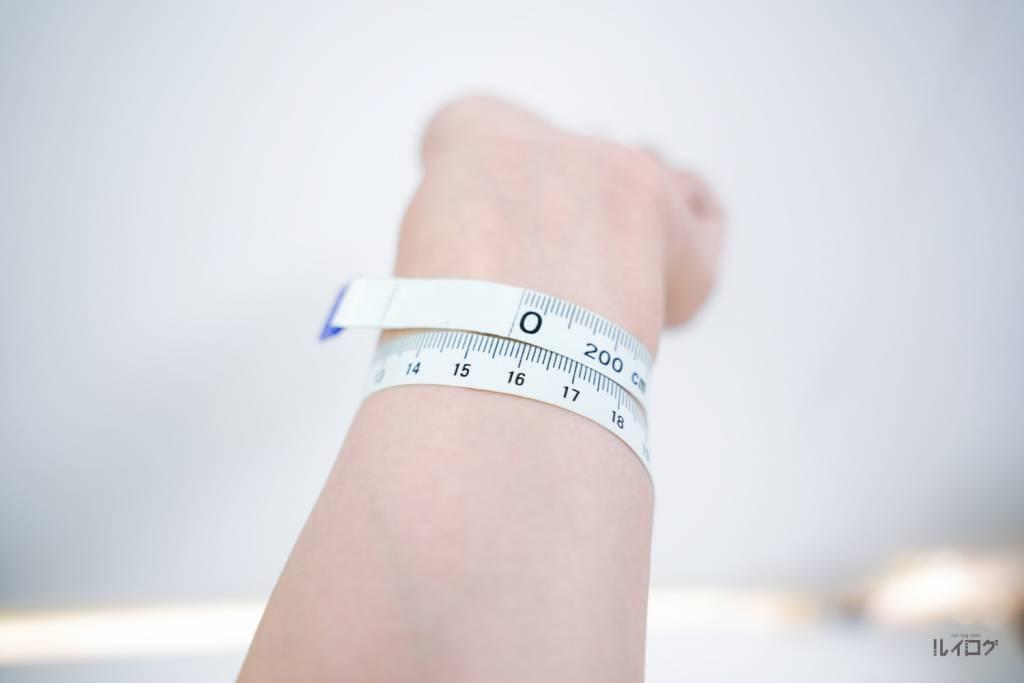ブレイデッドソロループ購入する際のサイズを測る
