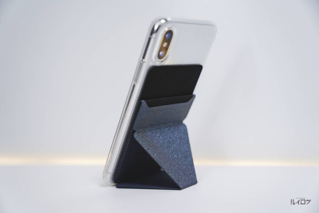 MOFT XをiPhoneXに装着して縦置き
