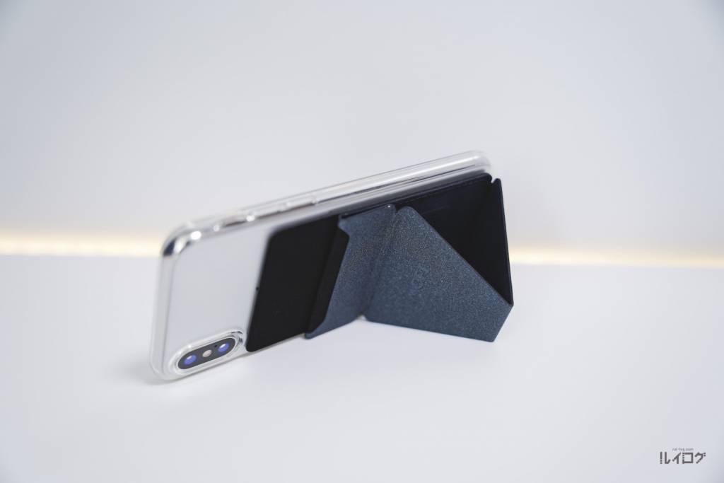 MOFT XをiPhoneXに装着して横置き