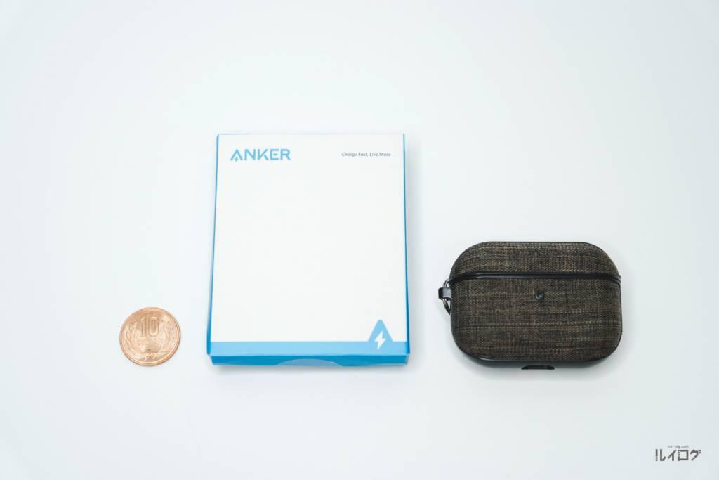 Anker PowerLine Ⅲ Flow USB-C & USB-Cのパッケージサイズ比較