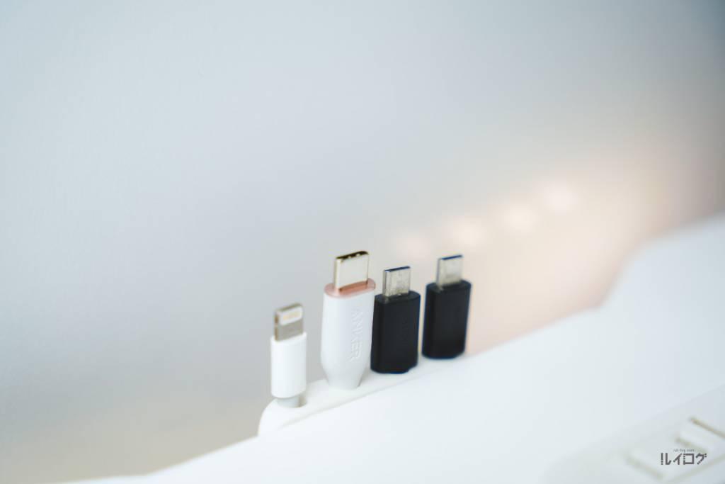 Anker PowerLine Ⅲ Flow USB-C & USB-Cをケーブルホルダーに