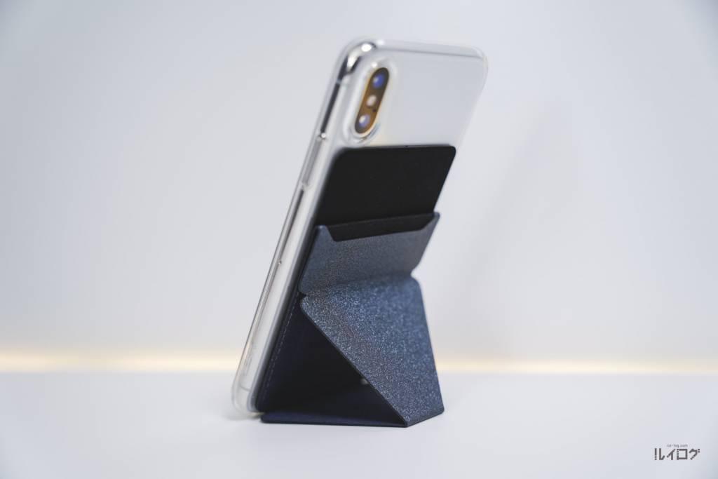 MoftXをつけたiPhoneX