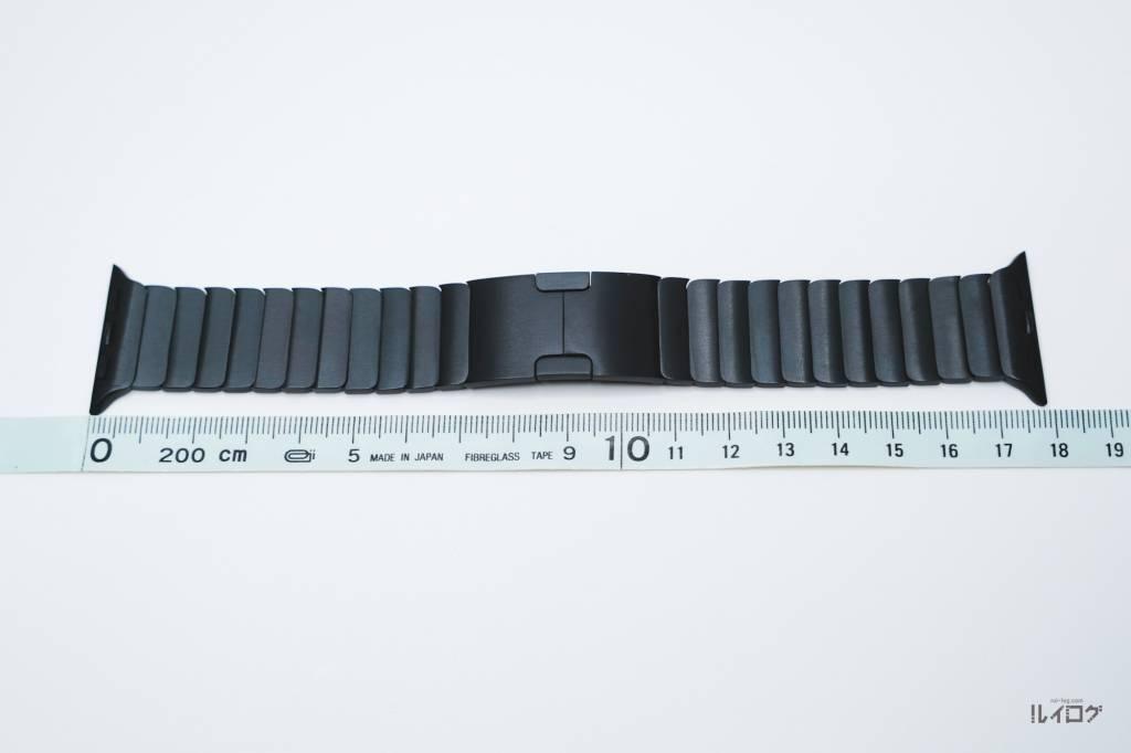 AppleWatchの格安リンクブレスレット本体の長さ