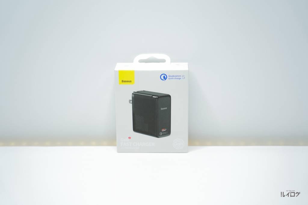 QC5.0搭載充電器BaseusCCGAN100CSのパッケージ