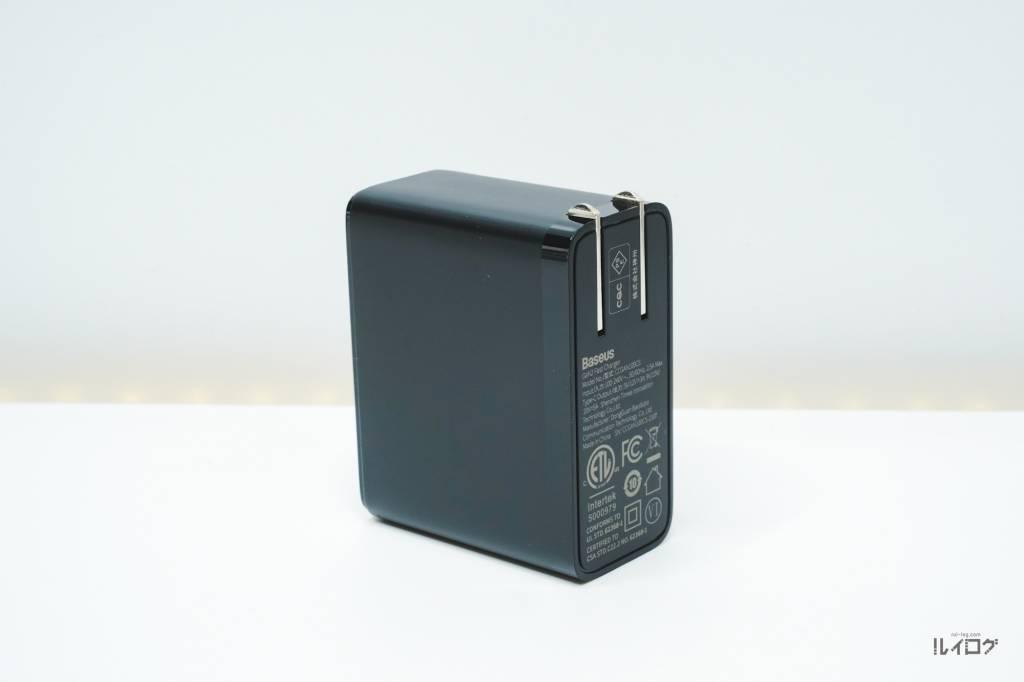 QC5.0搭載充電器BaseusCCGAN100CS本体