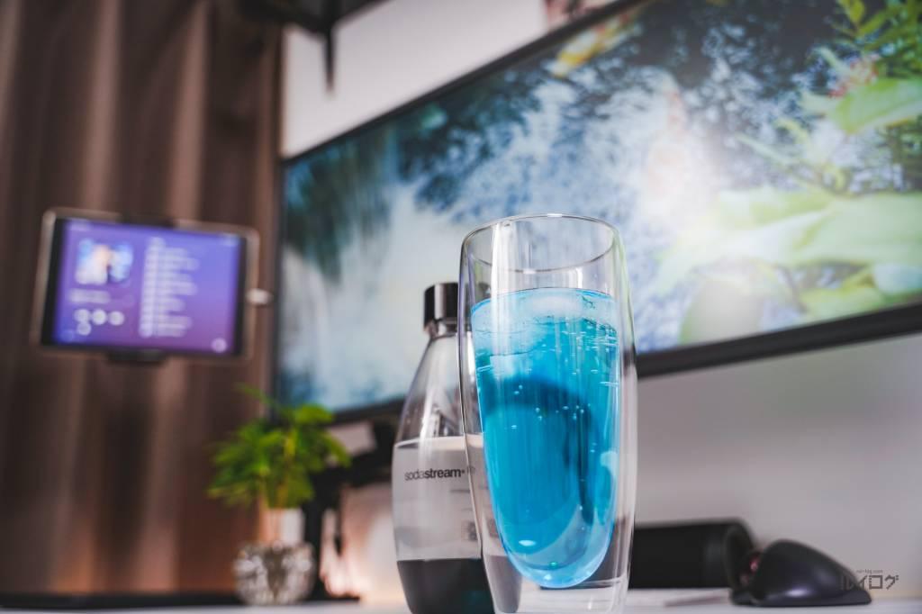 炭酸水×かき氷シロップ