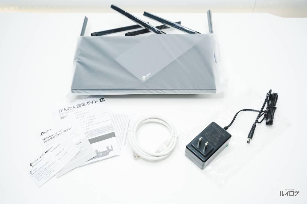Wi-Fi6ルーターTP-Link Archer AX20の同梱物