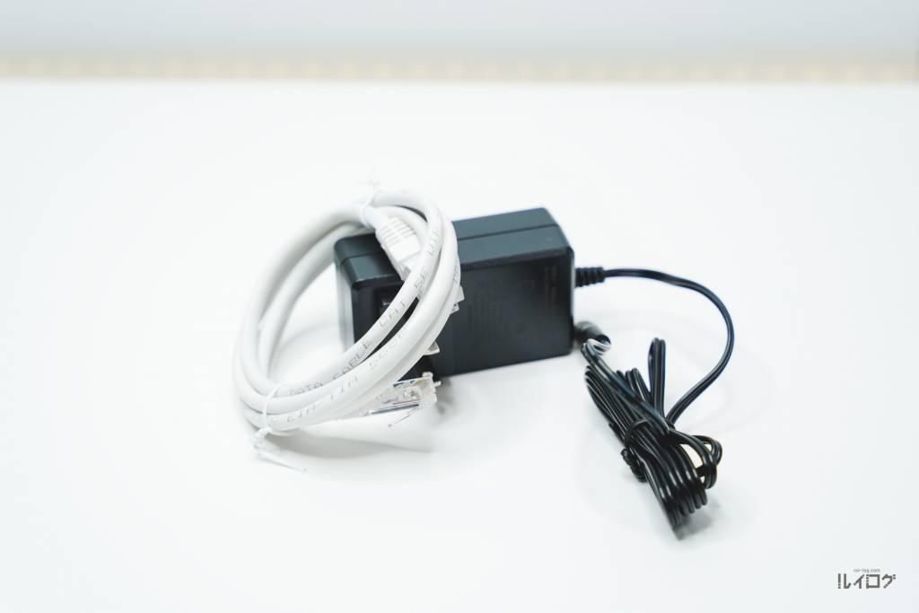Wi-Fi6ルーターTP-Link Archer AX20同梱のLANケーブルとアダプター