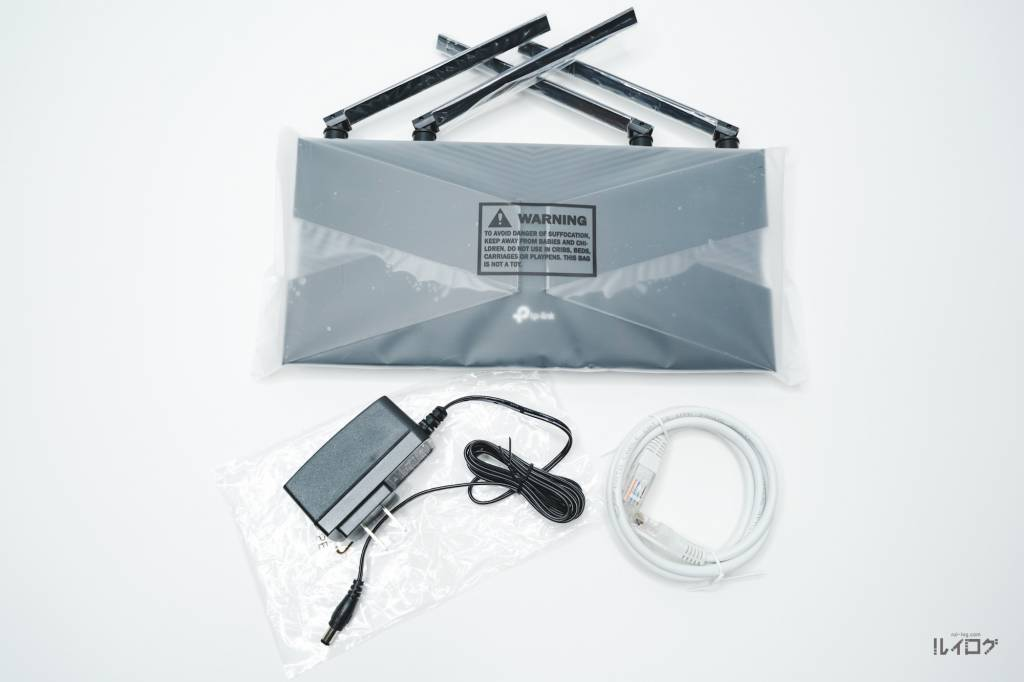 Wi-Fi6ルーターTP-Link Archer AX10の同梱物