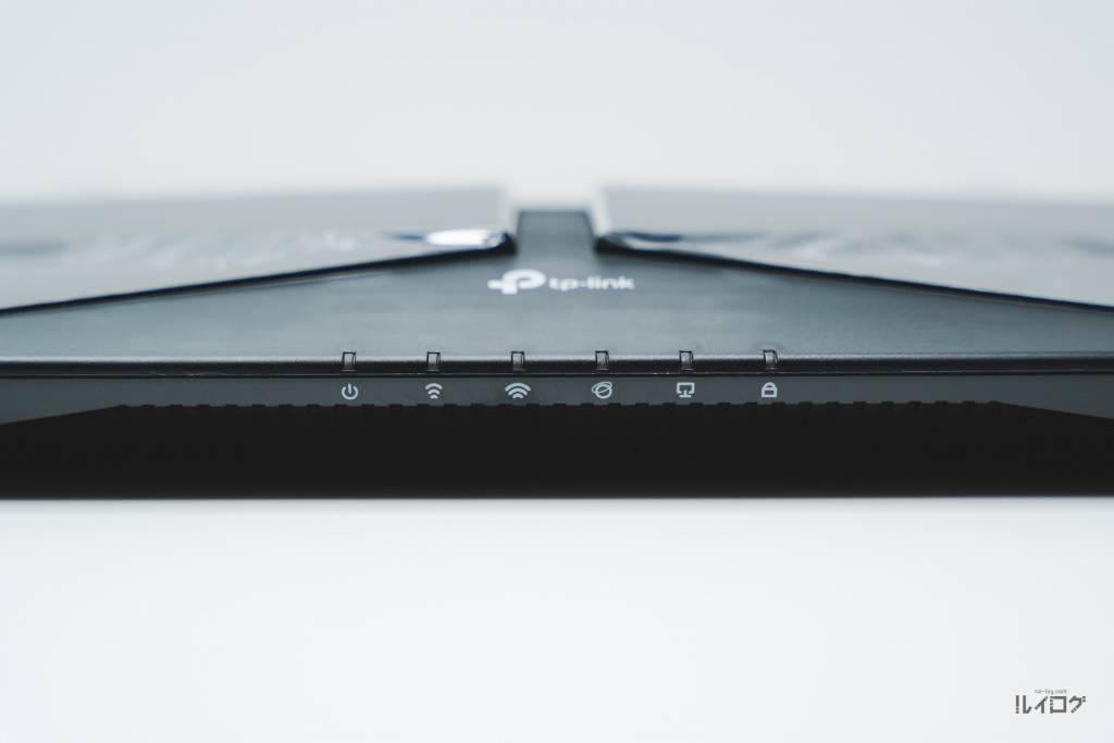Wi-Fi6ルーターTP-Link Archer AX10本体LED部分