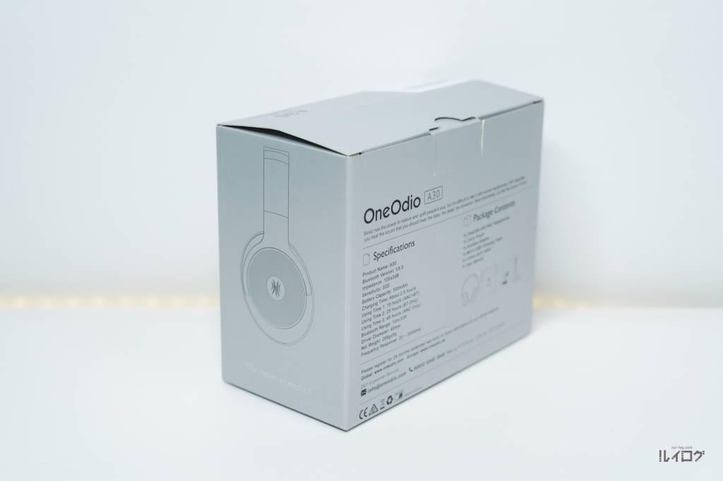 ノイキャンヘッドホンOneOdioA30のパッケージ