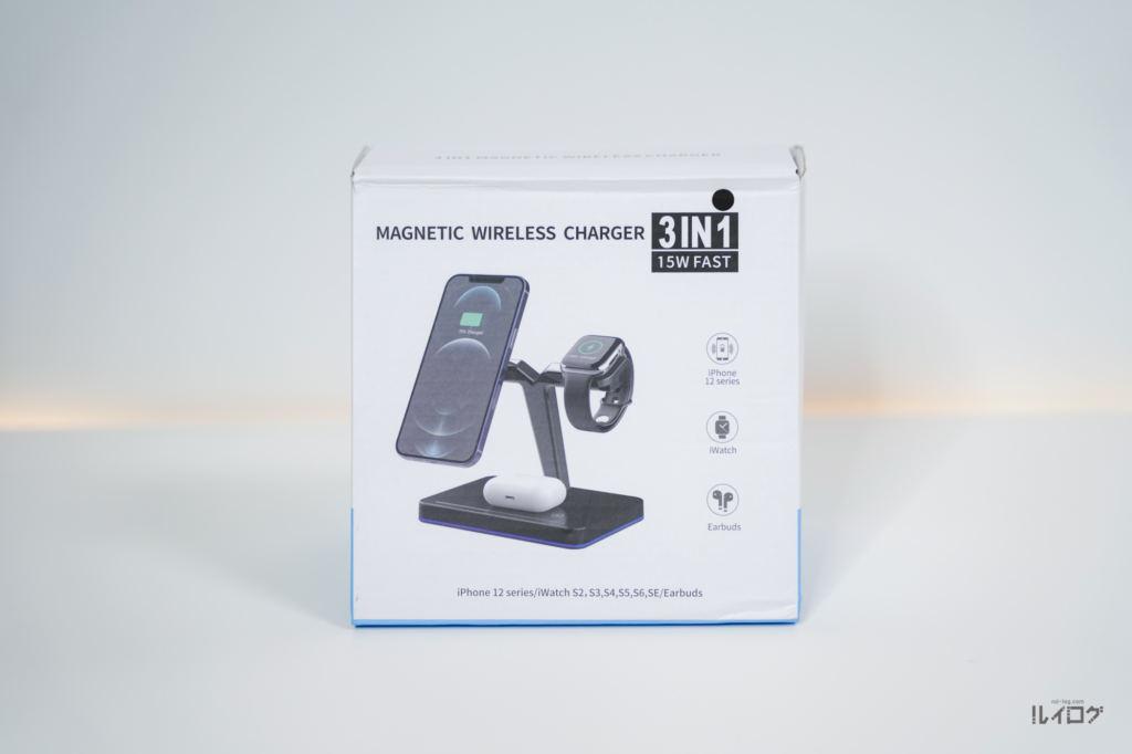 Magsafe対応3in1ワイヤレス充電器(Braveby)のパッケージ