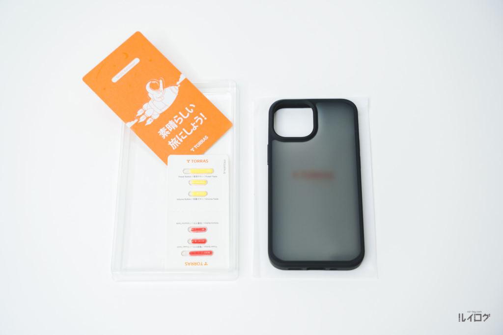 iPhone13miniの耐衝撃性抜群薄型ケースの内容物