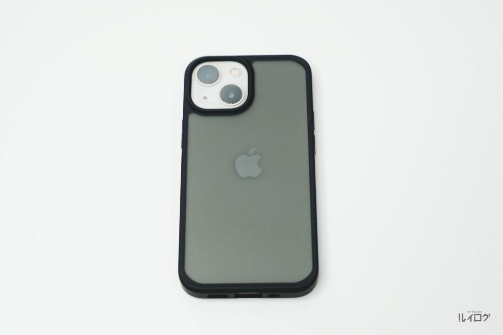 iPhone13miniに耐衝撃性抜群薄型ケースを装着