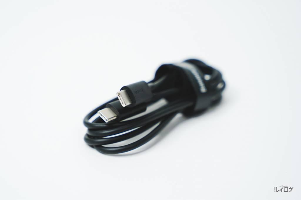 Baseus100W4ポート急速充電器CCGAN100USの同梱のUSB-Cケーブル