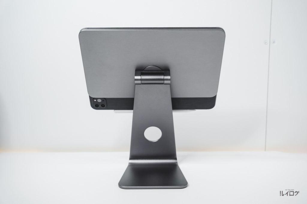 Magnetic iPad Standは前後左右360°回転する