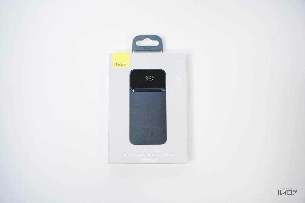 Baseusワイヤレス充電対応モバイルバッテリーのパッケージ表面